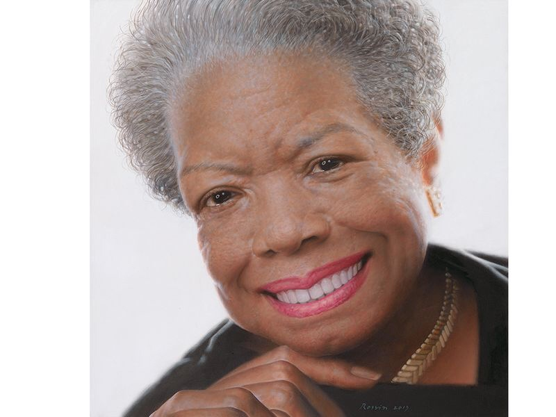 Maya Angelou by Ross Rossin, 2013. (National Portrait Gallery, gift of Andrew J. Young Foundation) Courtesy of Smithsonian