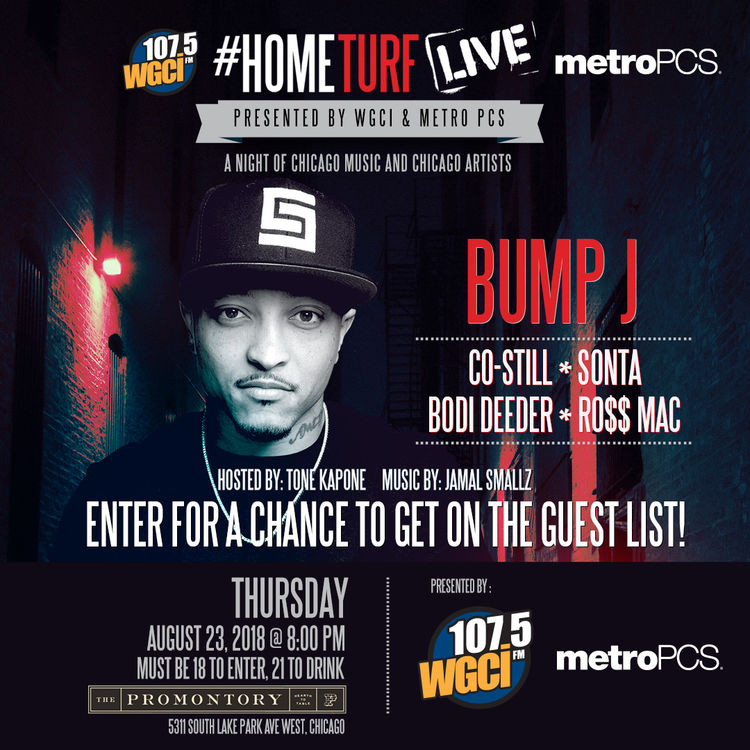 @BumpJ at @WGCI #HOMETurfLive featuring  @SontaMeshay @BoDiDeederRMG @Costill8nine #ChicagoShit by @Mr81hunnit