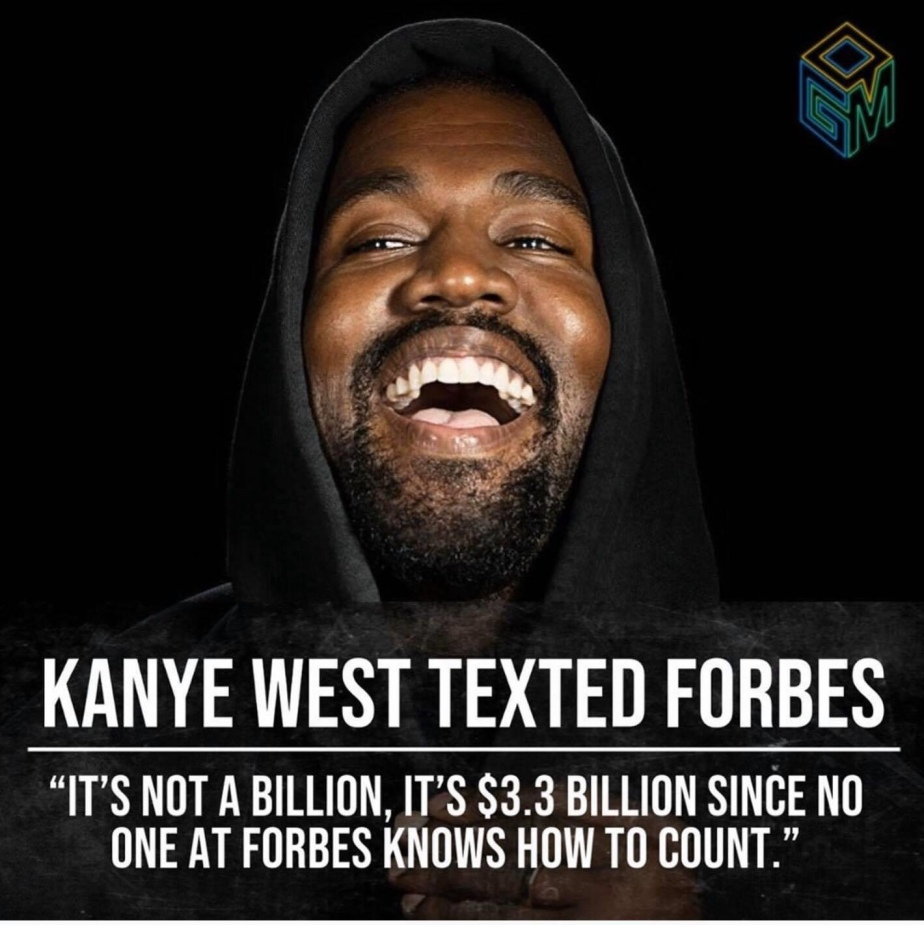 @KanyeWest Out Here Checking @Forbes , for his Billionaire Accomplishment