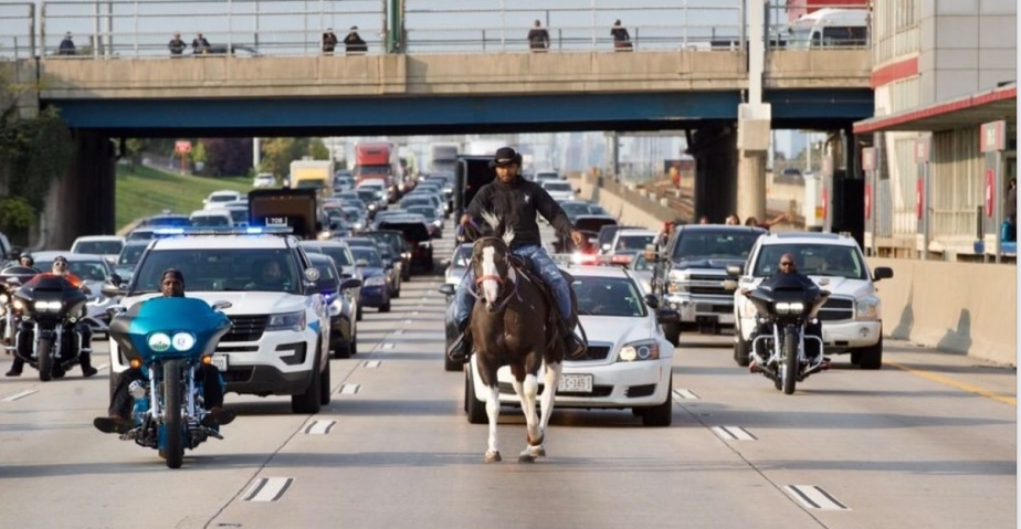 The 'Illinois' Dreadhead Cowboy Arrested in Chicago After Protesting ALL KIDS LIVES MATTER
